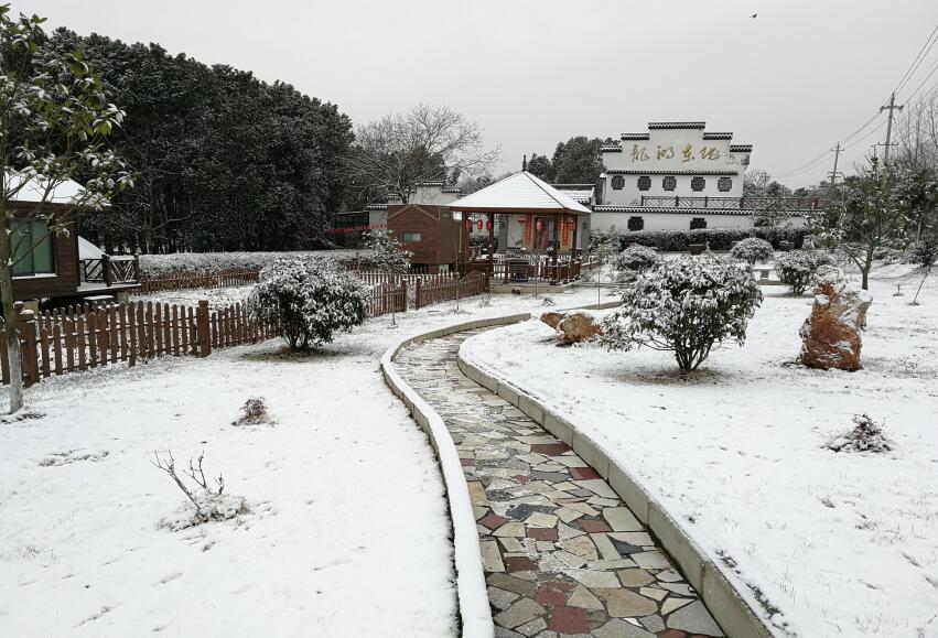 做客龙湖东院遇雪 [七律]    文/天鹏一羽    配图:王小二